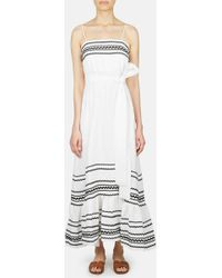 Lisa Marie Fernandez - Ric Rac Linen Slip Dress - Lyst