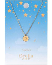 Orelia - Taurus Constellation Necklace - Lyst