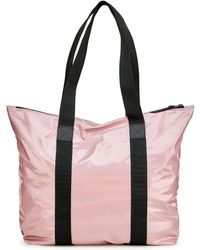 Rains Holographic Tote Bag Rush Holographic Woodrose - Pink