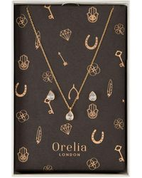 Orelia | Crystal Teardrop Gift Box | Lyst