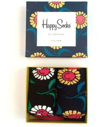 Happy Socks Smu 2-pack Sunflower Gift Box Donkerblauw - Blue