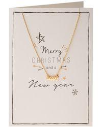 Orelia - Merry Christmas Script Giftcard - Lyst