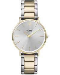 Cluse Minuit Three Link Gold Plated Silver Colored Gold Plated Silver Colored - Metallic