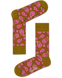 Happy Socks Socks Paisley Bruin - Brown