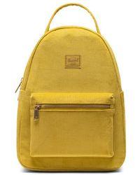 Herschel Supply Co. Nova Small Corduroy Golden Palm - Yellow