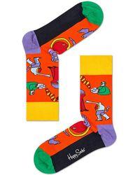 Happy Socks Socks Monster X The Beatles Oranje - Orange