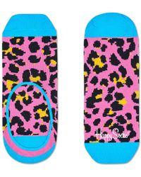 Happy Socks Socks Leopard Liner Roze - Pink