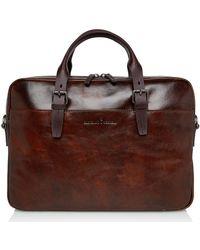 Castelijn & Beerens Laptop Bag 15.6 Inch Cognac - Brown