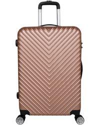 Valentino Stripe Suitcase Medium - Pink