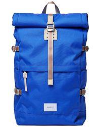 Sandqvist Laptop Backpack Bernt 13 Inch Blauw - Blue