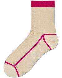 Happy Socks - Lily Rib Ankle Sock - Lyst