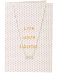 Orelia - Live Love Laugh Giftcard - Lyst