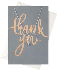 Orelia - Thank You Drop Necklace Giftcard - Lyst