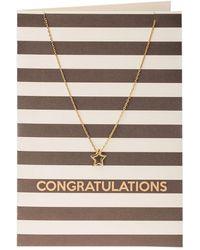 Orelia - Monochrome Congrats Giftcard - Lyst