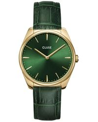 Cluse Feroce Leather Gold Plated Gold Plated Forest - Green