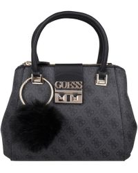 Guess - Logo Luxe Small Society Satchel - Lyst