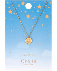 Orelia - Aries Constellation Necklace - Lyst
