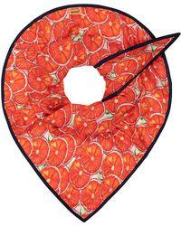 POM Amsterdam Shawl Oranges - Red