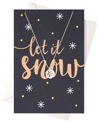 Orelia - Let It Snow Giftcard - Lyst