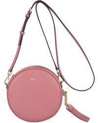 a2fe60a2d750 Lyst - MICHAEL Michael Kors Medium Canteen Crossbody Bag in Pink