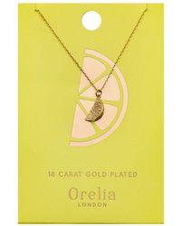 Orelia - Lemon Ditsy Necklace - Lyst