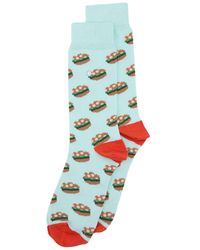Alfredo Gonzales Burgers Socks - Blue