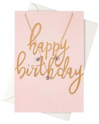 Orelia - Happy Birthday Giftcard Necklace - Lyst