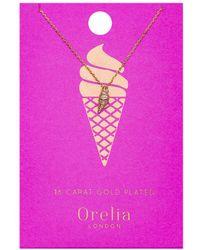 Orelia - Ice Cream Ditsy Necklace - Lyst
