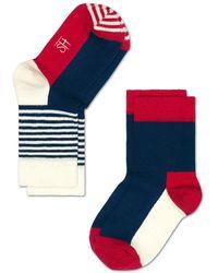Happy Socks - Socks Rood - Lyst