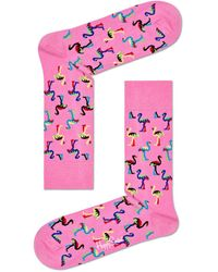 Happy Socks Flamingo Socks Roze - Pink