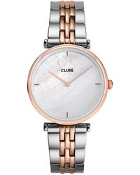 Cluse Triomphe 5 Link Rose Gold Plated White Pearl Rose Gold Plated - Metallic