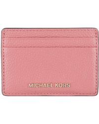 75cfc178a6ac Lyst - Michael Kors Wallet Genuine Leather Coin Case Holder Purse ...
