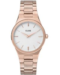 Cluse Vigoureux 33 H Link Rose Gold Colored Snow White Rose Gold Plated - Metallic