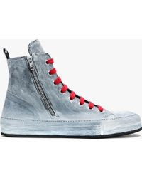 discount websites Ann Demeulemeester painted hi-top sneakers clearance best prices xZWTf4v