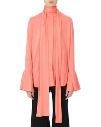 Ellery - Lucky Pussy Bow Ruffle Sleeves Blouse - Lyst