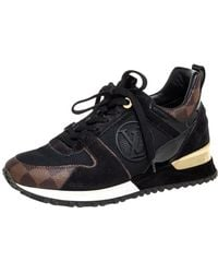 Louis Vuitton Black/brown Monogram Canvas And Suede Run Away Line Trainers