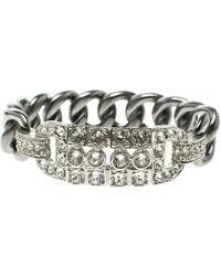 Chanel Crystal Chain Link Bracelet - Metallic