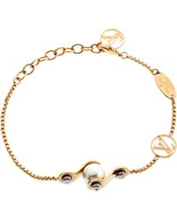 Louis Vuitton - Speedy Pearl Gold Tone Bracelet - Lyst