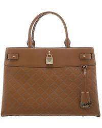 Michael Kors - Acorn Chain-embossed Leather Large Gramercy Satchel Bag - Lyst