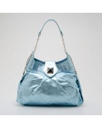 Lyst - Stella Mccartney Bella Mini Striped Woven Cross-body Bag c6b11dadcba05