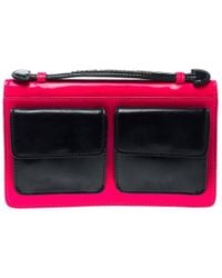 Marc By Marc Jacobs - Neon And Navy Blue Leather Pocket Clutch - Lyst