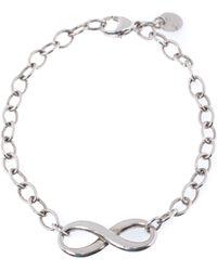 Tiffany & Co. Infinity Silver Chain Link Bracelet - Metallic