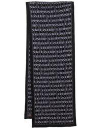 Louis Vuitton Anthracite Logo Monogram Split Scarf - Grey