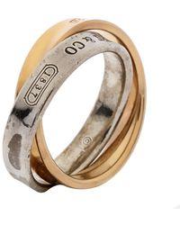 Tiffany & Co. Tiffany 1837 Interlocking Circles 18k Rose Gold & Silver Ring - Metallic