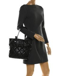 Chanel Black Coated Fabric Biarritz Tote