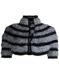 Chanel - And White Cut Out Detail Bolero Jacket S - Lyst