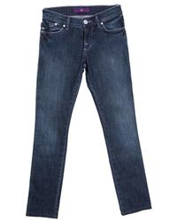 Victoria Beckham Indigo Dark Wash Faded Effect Slim Fit Denim Jeans S - Blue