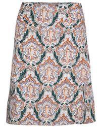 Carven Multicolour Printed Cotton Poplin Skirt