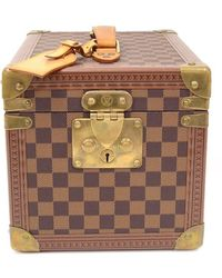 Louis Vuitton Limited Edition Damier Ebene Canvas Boite Flacons Beauty Cosmetic Trunk Case - Brown
