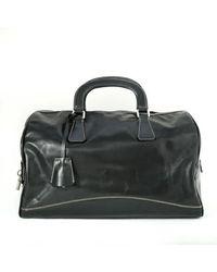 Prada Black Leather Vitello Box Bag